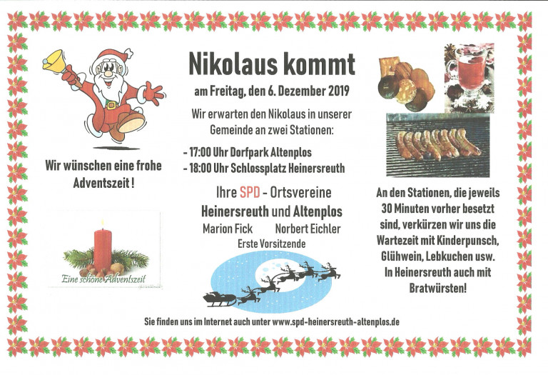 Nikolaus-Einladung 2019